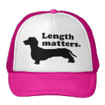 """Length Matters."" (Dachshund) Mesh Hat"
