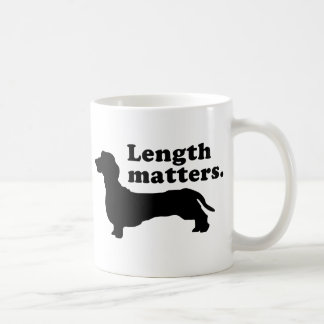 """Length Matters."" (Dachshund) Classic White Coffee Mug"
