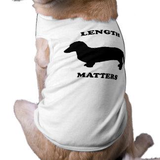 Length Matters Dog T Shirt