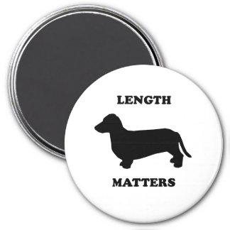 Length Matters Fridge Magnet