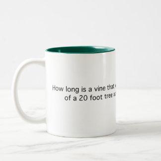 Length of Creeping Vine Two-Tone Coffee Mug