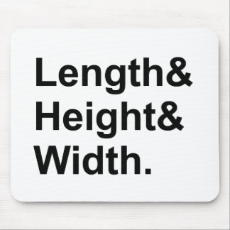 Length x Width x Height | Measuring Area Mouse Pad
