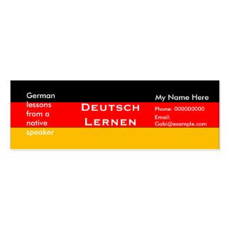 Lengua alemana de enseñanza -- Tarjetas de publici Tarjetas De Visita