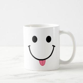 Lengua de frambuesa sonriente de la taza de la car