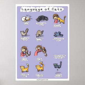 lengua de gatos póster