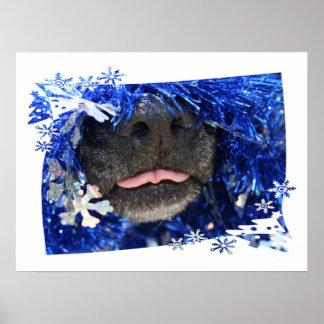 Lengua de la opinión del navidad del perro hacia f impresiones
