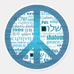 Lengua de la paz pegatinas redondas