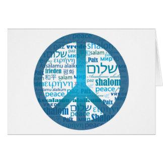 Lengua de la paz tarjeta de felicitación