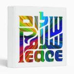 Lengua de la paz/tres idiomas coloridas