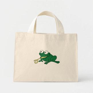 Lengua de la rana bolsa tela pequeña