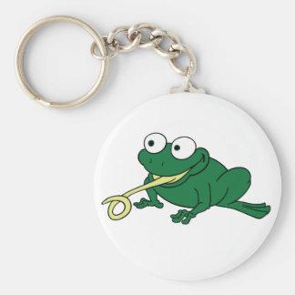 Lengua de la rana llaveros personalizados