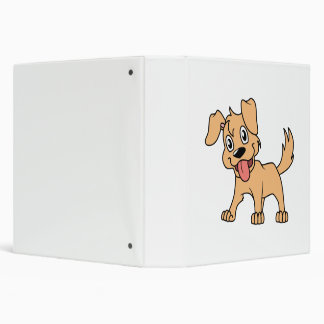 Lengua de perro linda feliz de perrito de Brown
