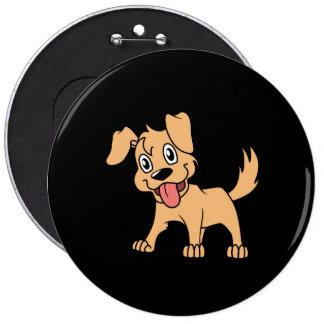 Lengua de perro linda feliz de perrito de Brown Pins