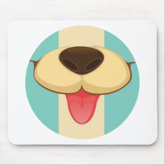 Lengua de perro nariz en el vintage Brown poner c Alfombrilla De Raton