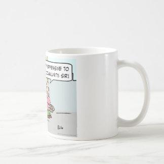 lengua de territorio insensible de la comunidad taza de café
