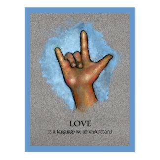 Lengua del amor: Lenguaje de signos americano: Tarjeta Postal