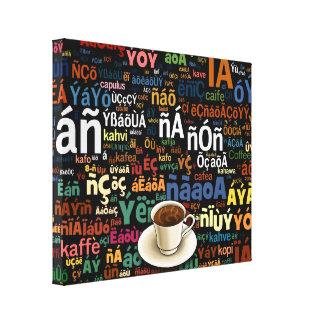 Lengua del café impresión en lienzo