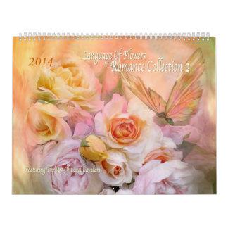Lengua del calendario 2014 del romance 2 de las