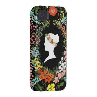 Lengua del caso del iPhone 4/4S de las flores Vibe iPhone 4 Carcasas