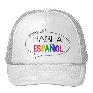 Lengua del día - gorra español del profesor