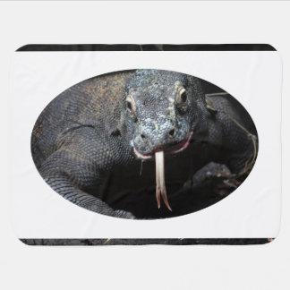 lengua del dragón de komodo hacia fuera drooling mantita para bebé