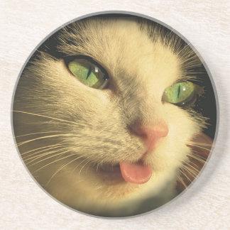 Lengua del gato posavasos diseño