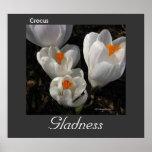 Lengua del poster del Gladness del azafrán de las