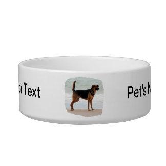 Lengua del soporte de la playa del pastor alemán h tazón para comida gato