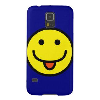 Lengua divertida del Emoticon hacia fuera Carcasa Para Galaxy S5
