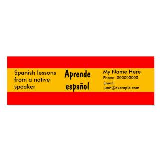 Lengua española de enseñanza -- Tarjetas de public Plantillas De Tarjetas De Visita