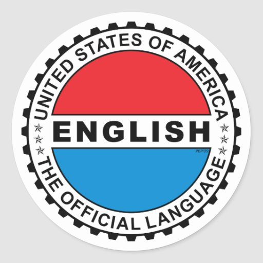 Lengua oficial de los E.E.U.U. Etiqueta Redonda