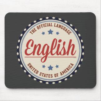 Lengua oficial de los E.E.U.U. Tapetes De Ratón