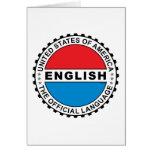 Lengua oficial de los E.E.U.U. Tarjeta