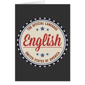 Lengua oficial de los E.E.U.U. Tarjeta De Felicitación