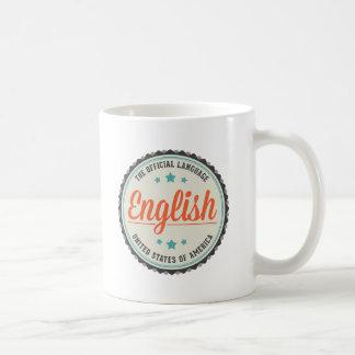 Lengua oficial de los E.E.U.U. Taza Básica Blanca