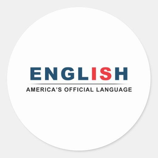 Lengua oficial pegatina redonda