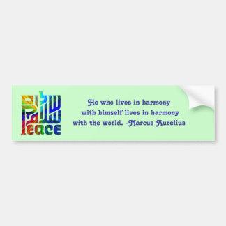 Lengua Paz-con de la cita Pegatina Para Auto