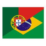 Lengua portuguesa, híbridos postal