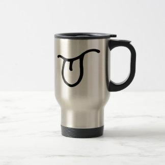 Lengua que se pega hacia fuera tazas de café
