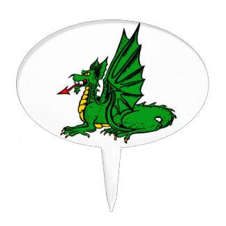 Lengua roja coa alas side.png del dragón figura de tarta