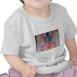 Lengua sagrada de la luz del corazón camiseta