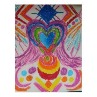 Lengua sagrada de la luz del corazón tarjetas postales