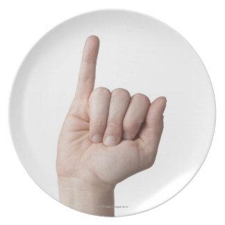 Lenguaje de signos americano 13 plato de cena