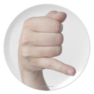 Lenguaje de signos americano 17 plato de cena
