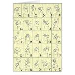 Lenguaje de signos americano A a Z del ASL Tarjeta