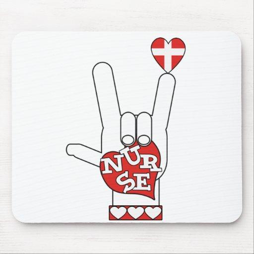 Lenguaje de signos del ASL te amo - ENFERMERA del  Mousepad