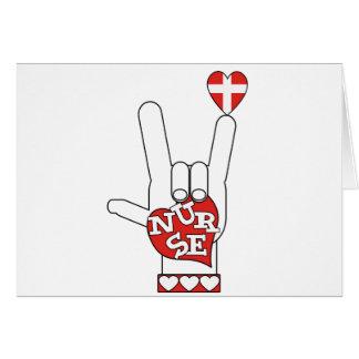 Lenguaje de signos del ASL te amo - ENFERMERA del  Tarjeta De Felicitación