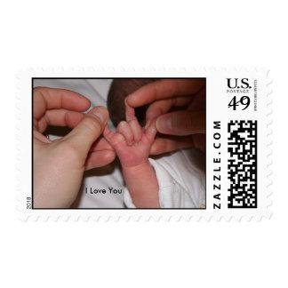 Lenguaje de signos del bebé - te amo sellos