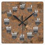 Lenguaje de signos - oxidado reloj de pared