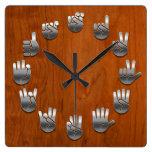 Lenguaje de signos - viruta relojes de pared